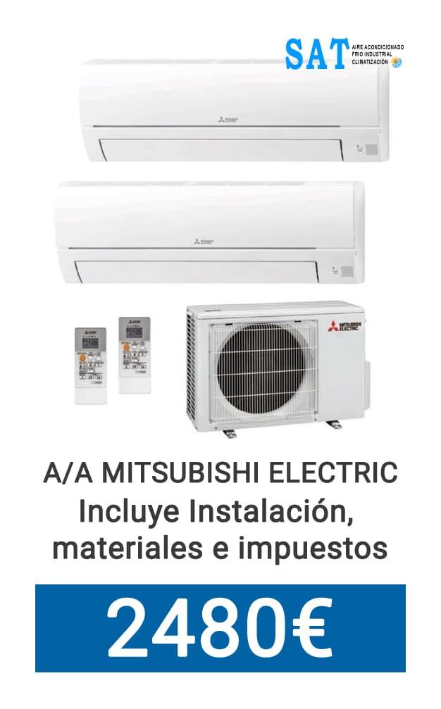 Oferta Mitsubishi Split 2x1