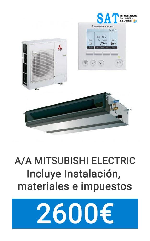 Oferta Mitsubishi Electric por conductos